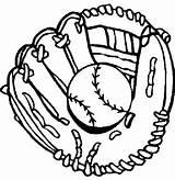 Baseball Coloring Glove Drawing Gloves Clipart Drawings Pages Clip Mitt Printable Bat Sheets Cliparts Signs Boys Sports Mewarnai Royals Getdrawings sketch template