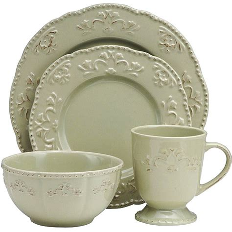 better homes and gardens dinnerware better homes and gardens medallion wreath 16 piece dinnerware set dillweed kitchen dining