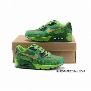 New Style Womens Nike Air Max 90 Yellow Emerald Green