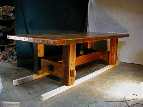 rustic plank dining table plans  woodworking