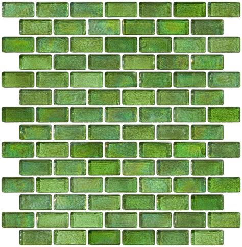 glass tile countertop glass tile 3 4 x 1 1 2 inch green iridescent glass