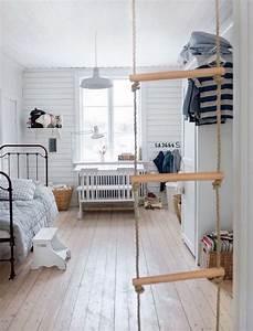 Lit Enfant Sol : 1001 id es chambre b b scandinave le blanc de l 39 innocence ~ Nature-et-papiers.com Idées de Décoration