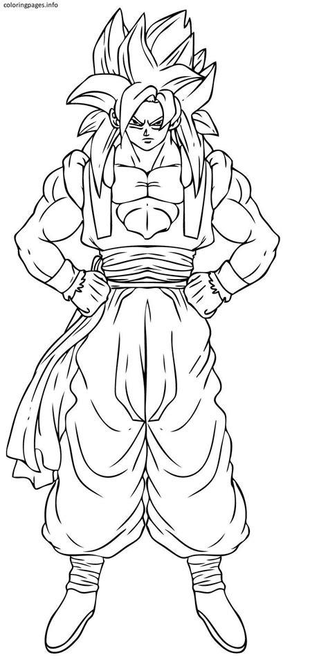nuova disegni da colorare goku super saiyan