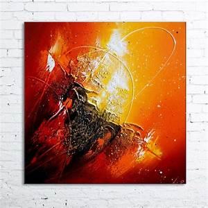 Tableau Peinture Moderne : peinture moderne l 39 huile orionis tableau abstrait contemporain toile en relief noir rouge ~ Teatrodelosmanantiales.com Idées de Décoration