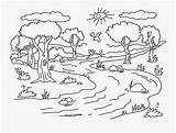 Coloring Landscape Pages Clipart Clipartkey sketch template