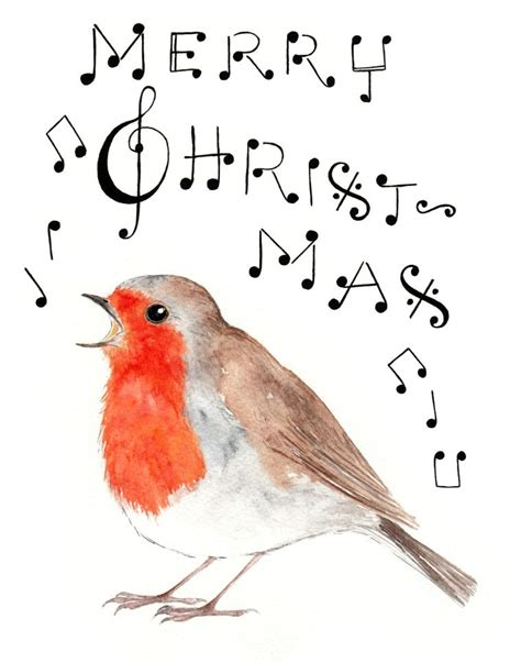merry christmas robin singing catherine