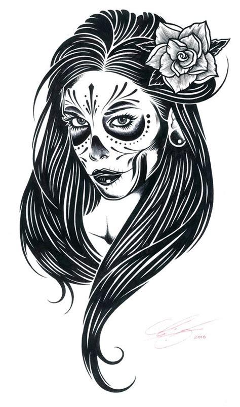 catrinas disenos bocetos tatuajes  catrinas