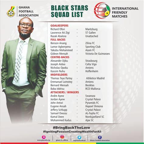 C.K Akonnor names squad for Mali friendly - Ghana Football ...
