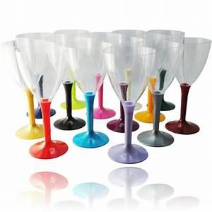 Verrine En Verre Pas Cher : verre vin plastique pas cher avec pied couleur x20 vaisselle discount ~ Teatrodelosmanantiales.com Idées de Décoration