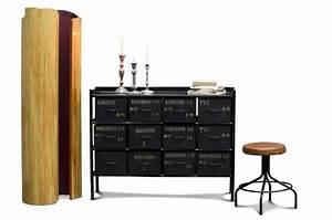 Commode 12 Tiroirs : commode d 39 atelier 12 tiroirs meuble factory pour le rangement ~ Teatrodelosmanantiales.com Idées de Décoration