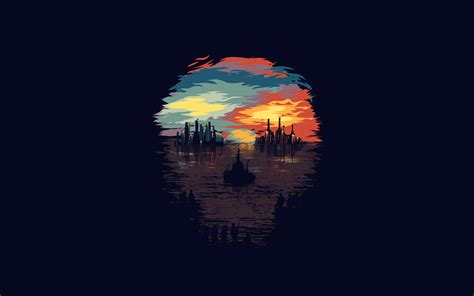 ar23 dystopia illustration minimal wallpaper