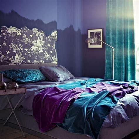 blue purple bedroom blue color schemes enhancing modern bedroom decorating 10887