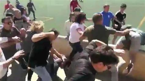 huge brawl breaks   youth soccer match