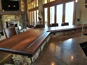 DeVos Custom Woodworking - Slab Walnut Wood Countertop