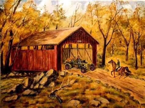 paintings  sale  england covered bridge artsyhome