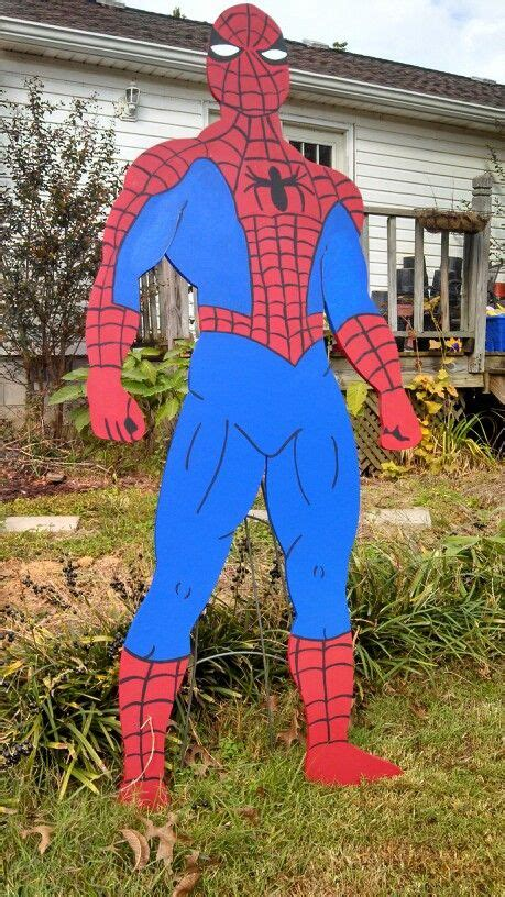 spiderman yard art decorations cartoon party decor