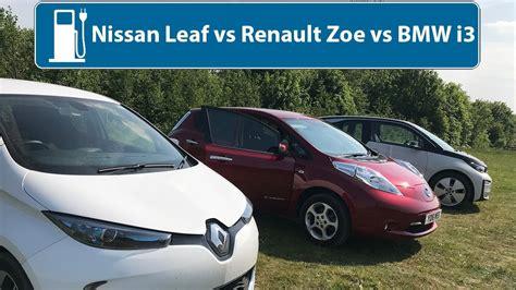 nissan leaf  renault zoe  bmw       electric car youtube