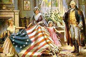 Lore about Betsy Ross sewing Stars and Stripes caught fire ...