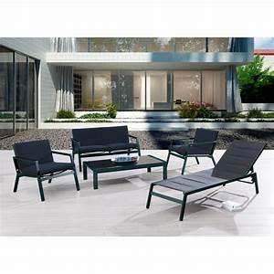 Salon De Jardin Miami : salon de jardin miami en aluminium mypiscine ~ Melissatoandfro.com Idées de Décoration