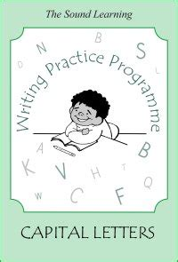 writing practice book  capital letters