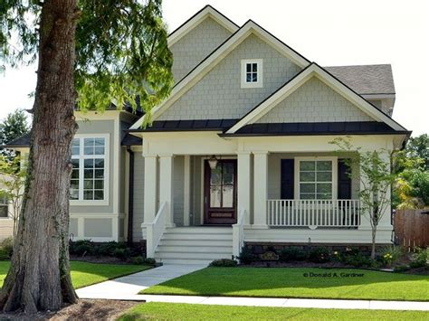Lake House Plans Narrow Lot Craftsman Bungalow Narrow Lot