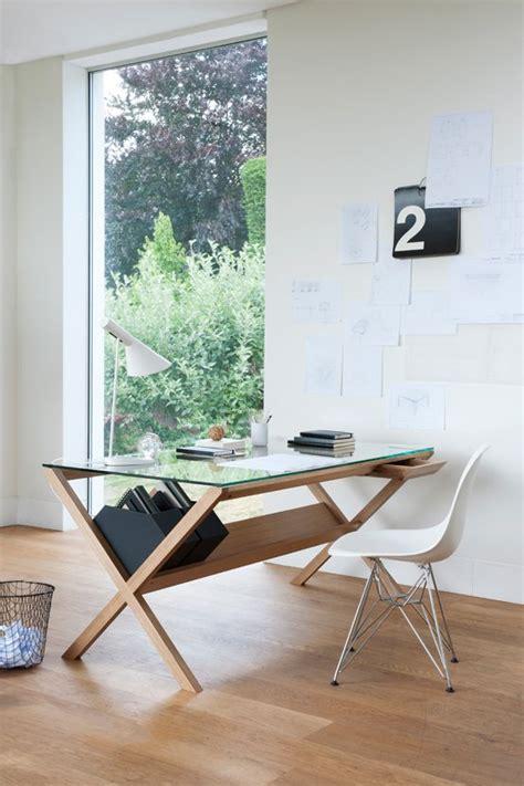 glass top work desk 43 cool creative desk designs digsdigs