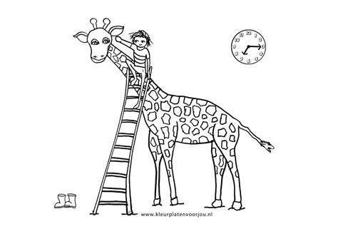 Giraffe Peuter Kleurplaat by Kleurplaat Baby Giraffe