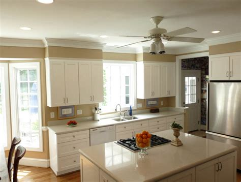 how high should kitchen cabinets be from countertop how to add value to your home by installing crown moldings
