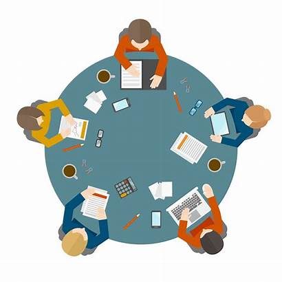 Meeting Business Table Office Person Vector Illustration