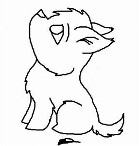 Free Chibi Puppy Lineart by Dannybabe on DeviantArt