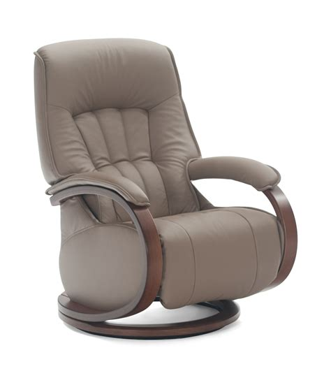 Leather Swivel Recliners by Mosel Leather Swivel Recliner By Zerostress Hom Furniture