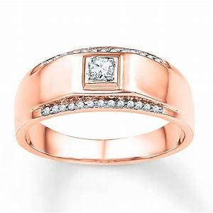 sterlingjewelers men39s wedding band 1 6 ct tw diamonds With rose gold mens wedding rings