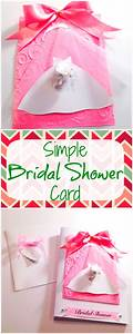 how to make a simple bridal shower card bowdabra blog With wedding shower cards to make
