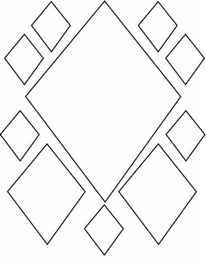 Diamond Coloring Shape Pattern Pages Shapes Play
