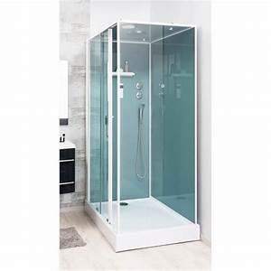 cabine de douche adely 90x120cm droite achat vente With porte de douche coulissante avec spot orientable salle de bain