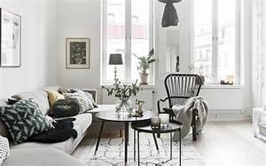 une deco en noir blanc et bois shake my blog With deco salon blanc et bois