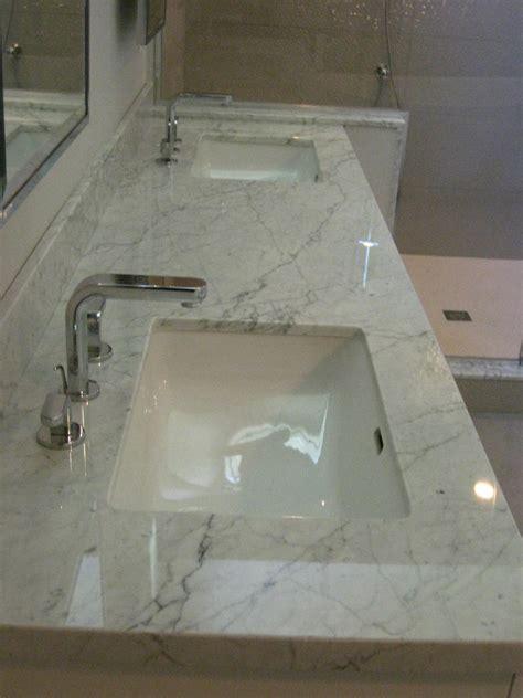 carrera marble bathrooms Bathroom Contemporary with modern