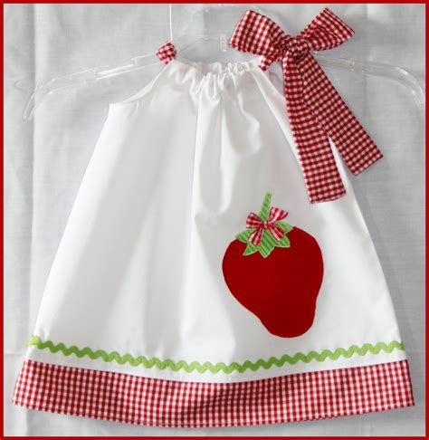 applique country country chic strawberry applique dress by