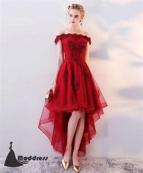 12760 Low Shoulder Flower Dress pink prom dress prom dress formal prom dress moddress