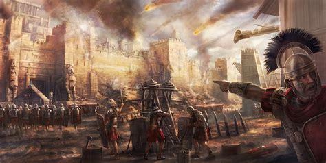 roman artillery attack illustration ancient history