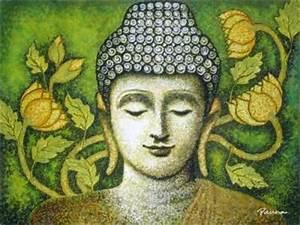 Buddha abstract art - Buddha VI - Panna Paintings