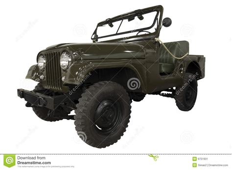 vintage military jeep vintage army jeep stock image image of isolated antique