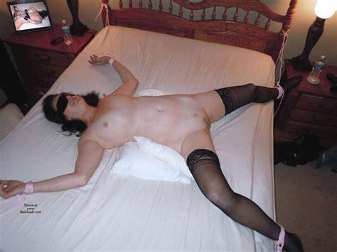 Spread Eagle Bed Tied Blindfolded Invitation September