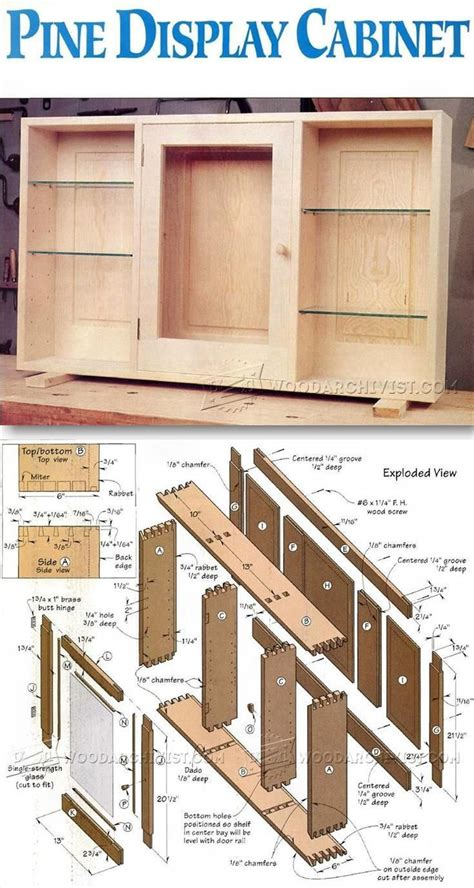 wood project planner wall display cabinet plans furniture plans and projects woodarchivist com wood furniture