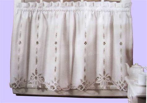 Battenburg Lace Cotton Kitchen Curtain