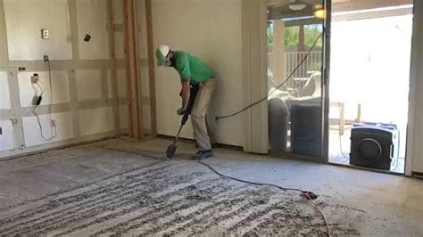 remove thin set   concrete  floor youtube