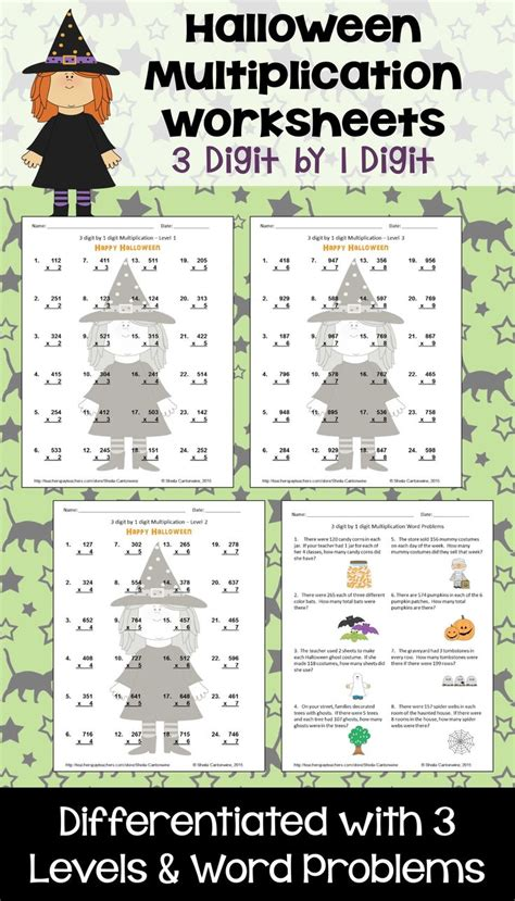 5th grade halloween math worksheets pics worksheet