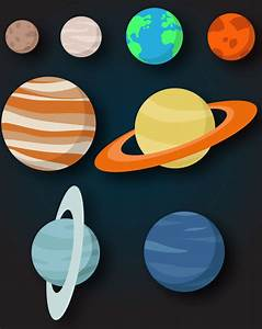Free Flat Solar System Planets Vector - TitanUI