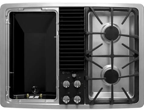 ge pgpsenss   downdraft gas modular cooktop   sealed burners recessed cooktop