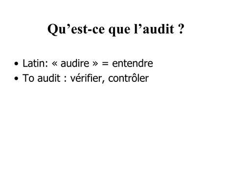 ppt generalites sur l audit powerpoint presentation id 229556